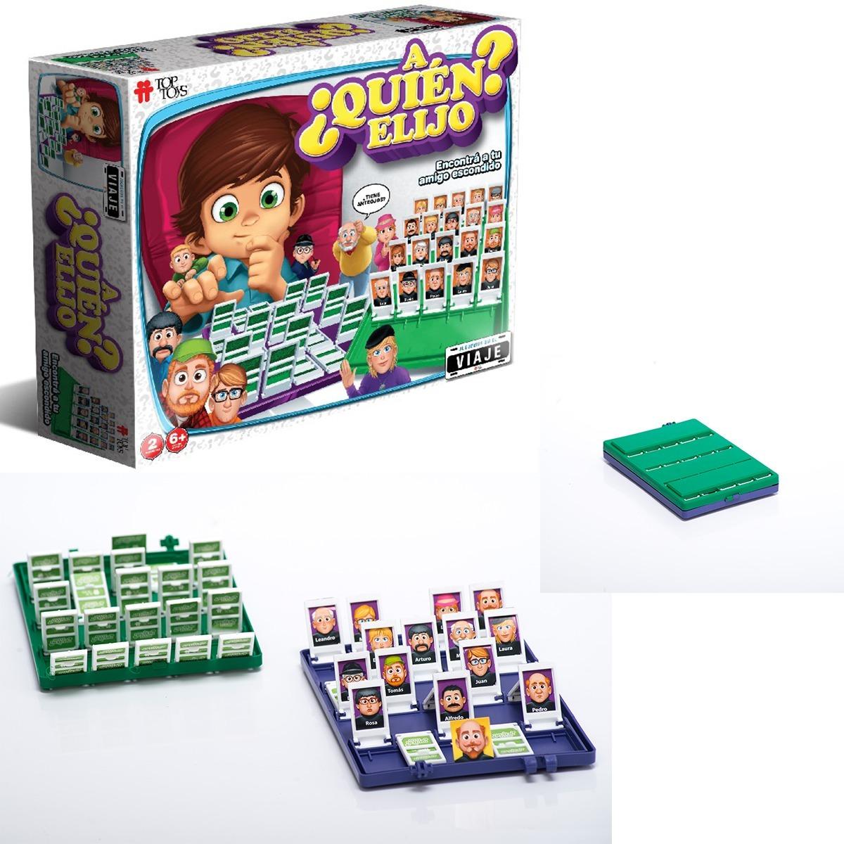 2 Juegos Mesa Infantil A Quien Elijo Tablero Viaje Top Toys 958