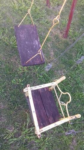2 juegos tobogan con puente + hamacas