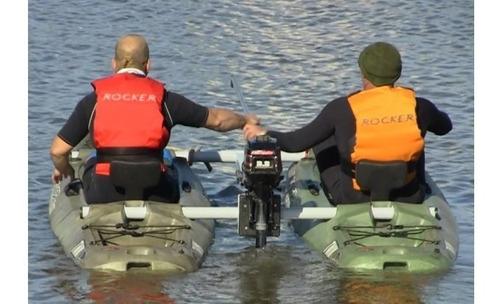 2 kayaks rocker twin + kit catamaran c5 local envio gratis
