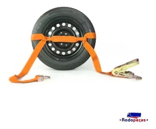 2 kit cinta catraca p/ amarração de veiculo em guincho 3 ton