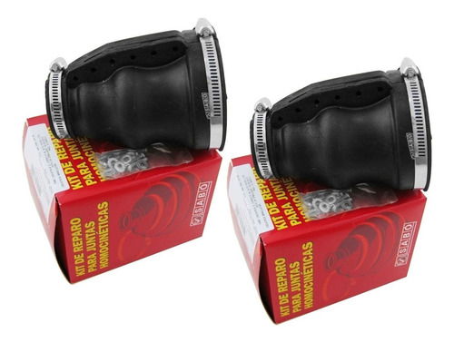 2 kit coifa semi eixo fusca brasilia 1300 1500 1600 - sabó