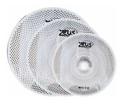 2 kit pratos zeus mute set c 14/16/20