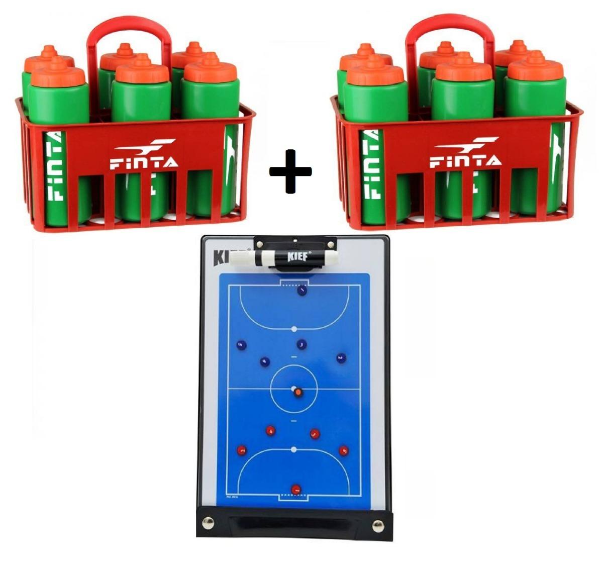 0e254d69b1 2 Kit Squeeze Garrafinha Prancheta Magnetica Futsal Original - R ...