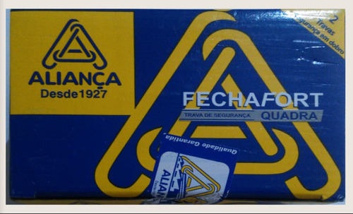 2 kits 4 travas aliança cromada inox tetra - 01 conj f 2000