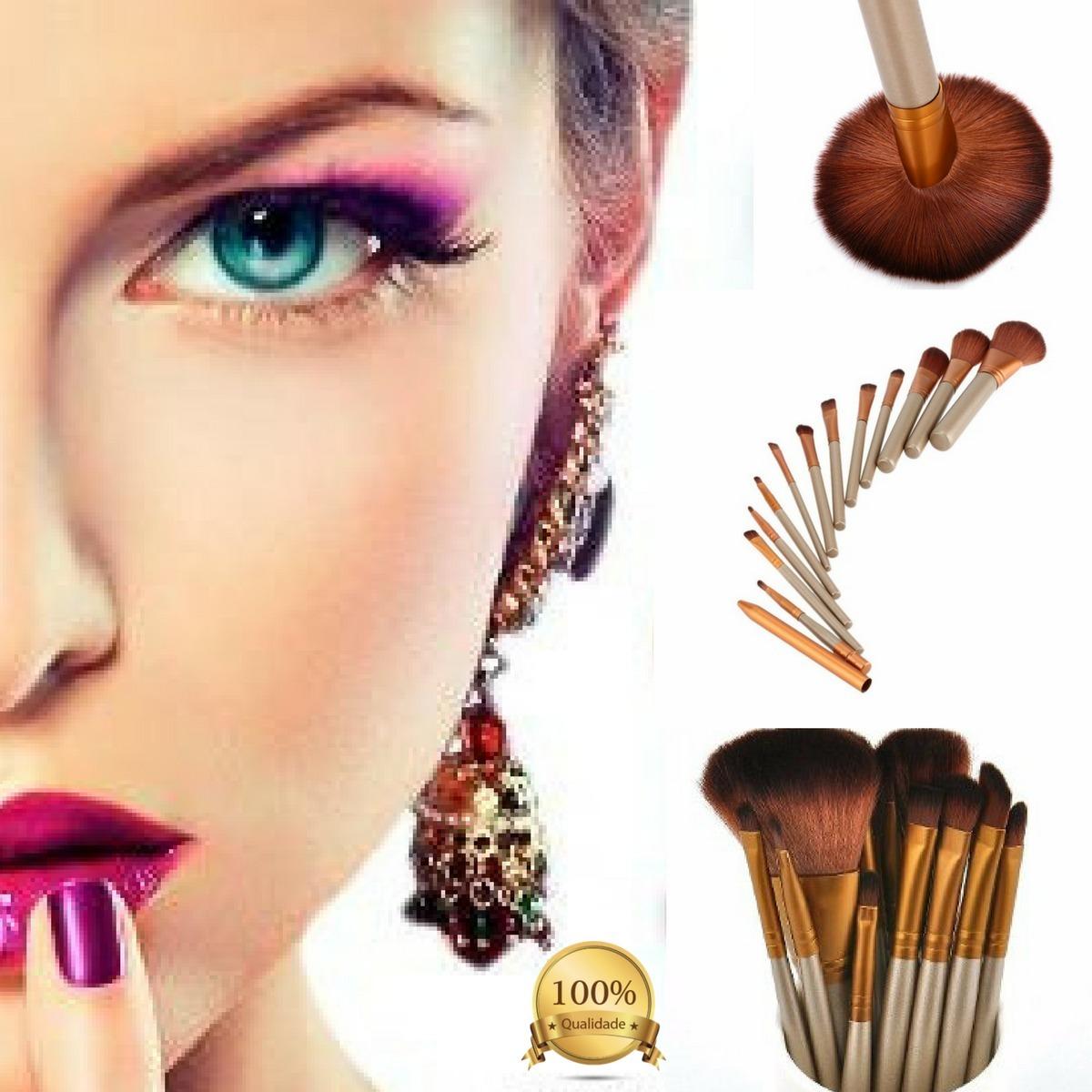 ecd91dde37985 2 kits de12 pinceis de maquiagem profissionais muito barat. Carregando zoom.