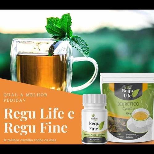 2 kits regu fine com chá regu life original