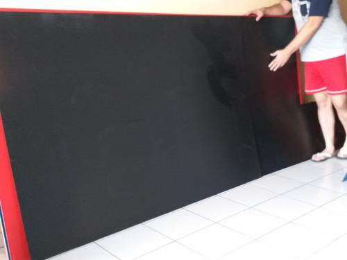 2 láminas coroplast 122x244cm color negro4 mm con envío