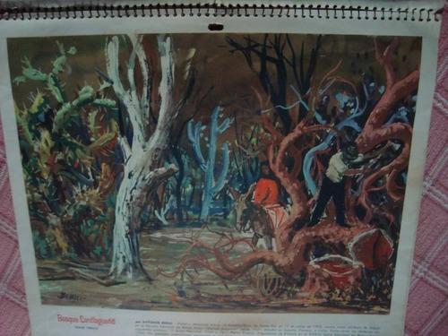 2 laminas de almanaque pinturas j vanzo antonio berni