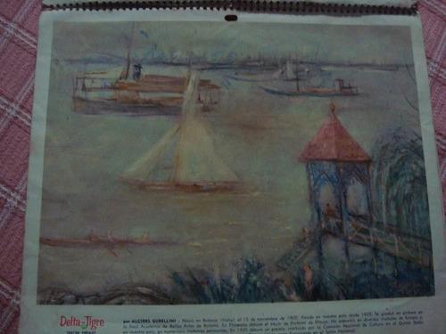 2 laminas de almanaque pinturas r. bonome a gubellini