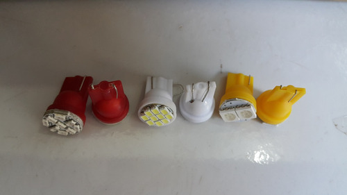 2 lampada pingo t10 c/ 10 leds branca 12v