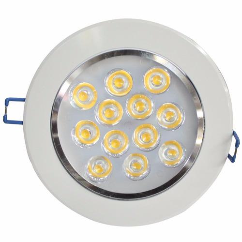 2 lampadas led 12w p/ forro gesso embutir