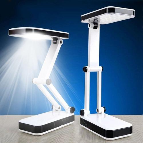2 lamparas led plegable escritorio solar y pila recargable