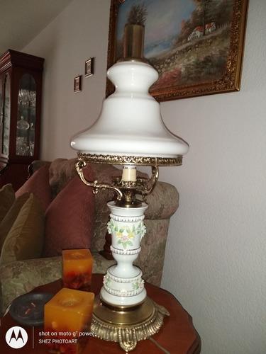 2 lamparas / quinqués. excelente estado en bronce.