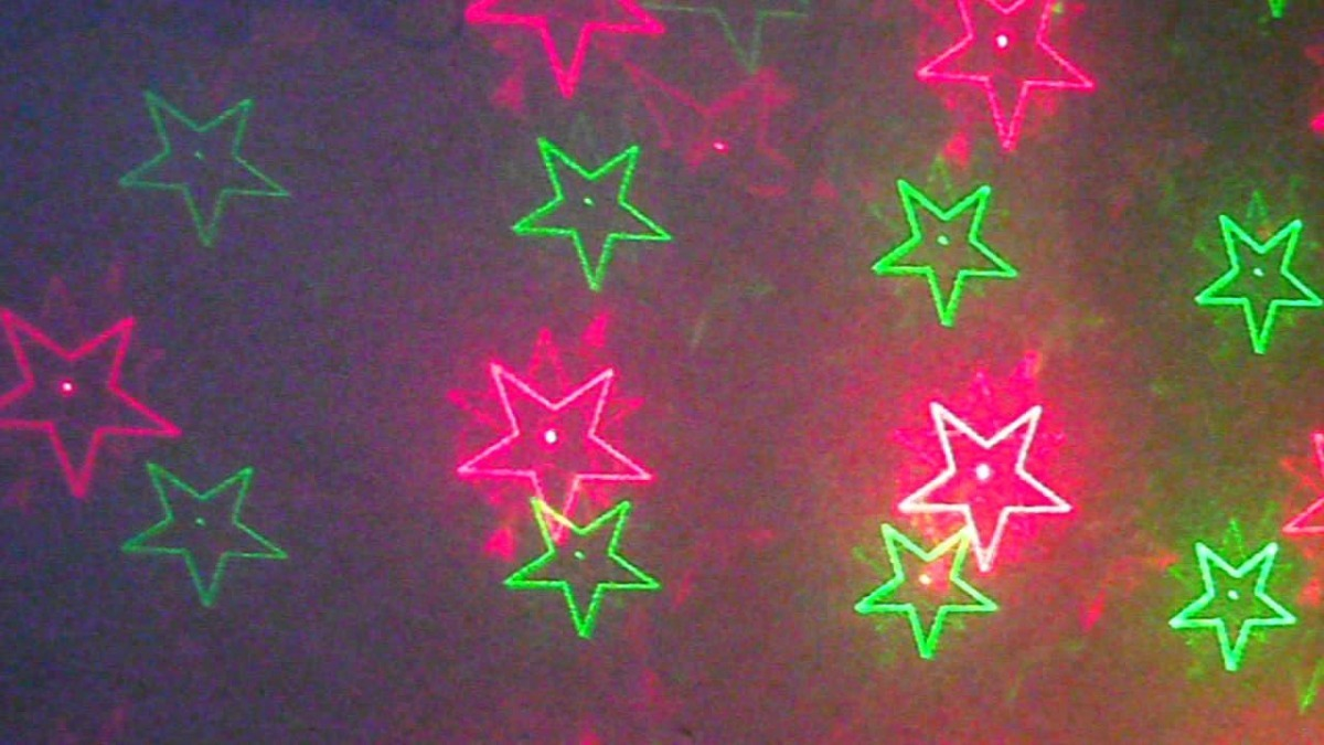 2 Laser Multipuntos Estrellas Corazones Strobbo Audioritmico