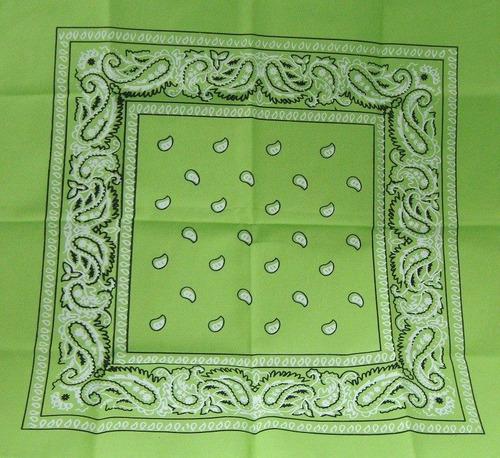 2 lenço bandana verde claro  ln044