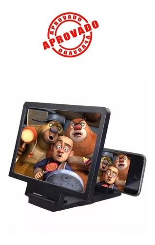 2 lente 3d projetor amplia imagem celulares smartphone