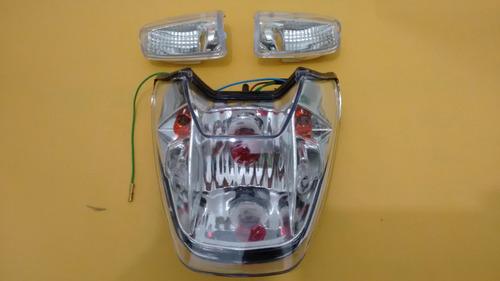 2 lente  + lanterna c/ pisca embutido titan 150 sport