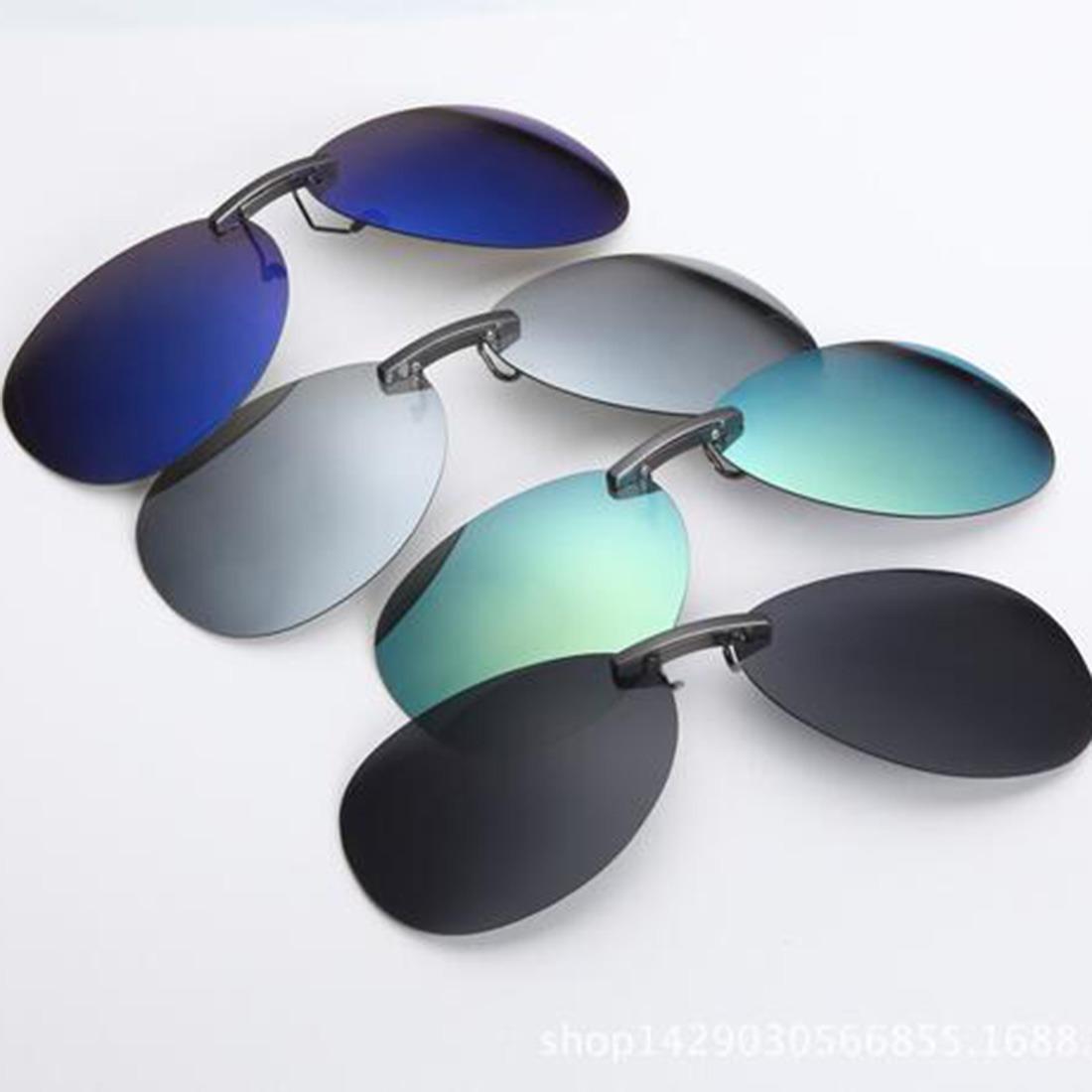 bb7e35bc85762 2 Lentes Discreto P  Óculos Clip On Aviador Polarizado - R  139
