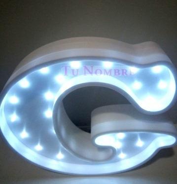 2 letras numeros iluminados nombres 25 cm polyfan tunombre