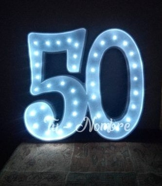 2 letras numeros iluminados nombres 30 cm polyfan luces luz