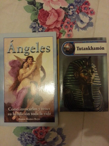 2 libros angeles y tutankhamon