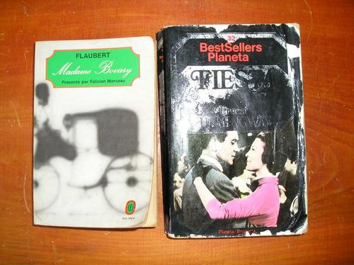 2 libros de hemingway y flaubert