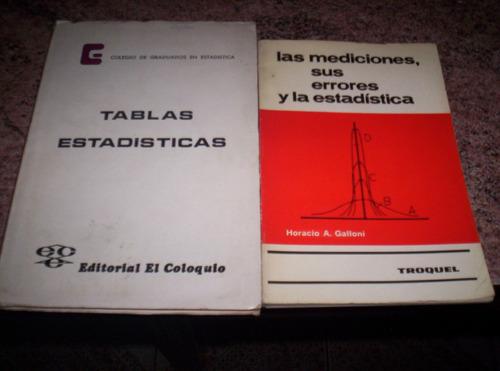2 libros de mediciones y estadísticas en muy buen estado!