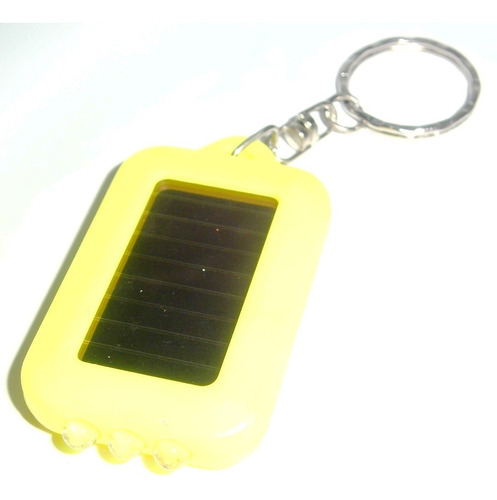 2 linterna 3 led recargable lampara solar llavero portatil
