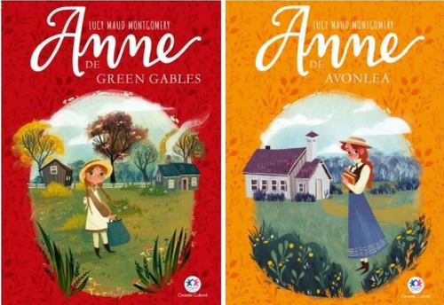 2 livros  anne de green gables + anne de avonela