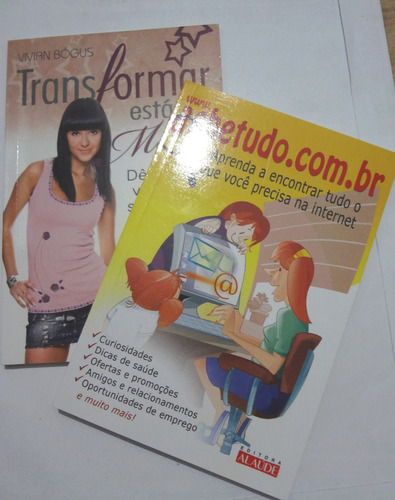 2 livros - transformar roupas e ache tudo na internet