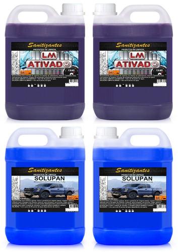 2 lm / ativado / limpa baú 5x200 5l + 2 solupan 5x200 5l