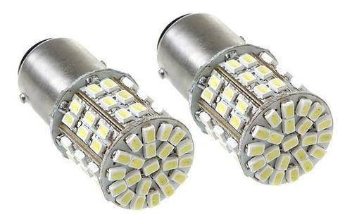 2 lâmpadas ré 64 leds 1156 (1 polo) p21w xenon torpedo pingo