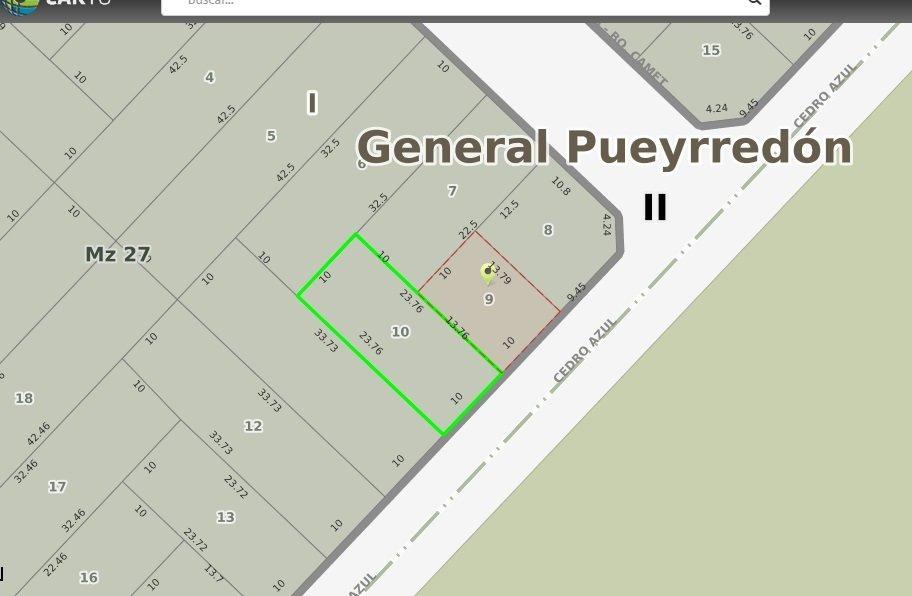 2 lotes/ terrenos linderos en barrio parque peña - venta