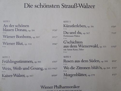 2 lp vinil - die schonsten strauz-walzer - 1981