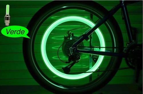 2 luces fluorescentes led bicicleta para llanta movimiento
