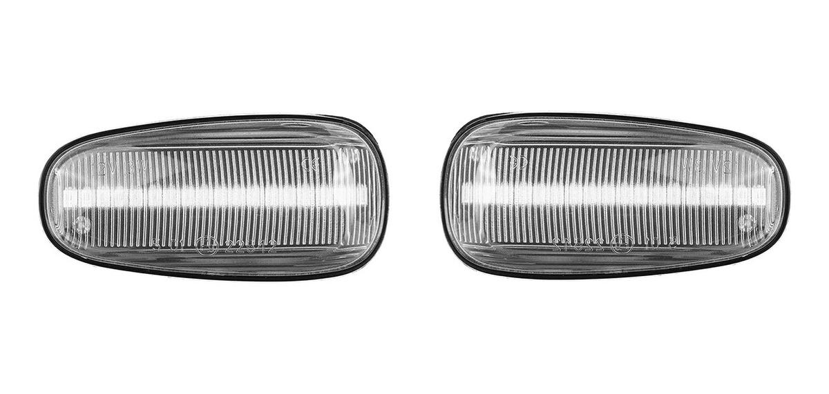 Faros para los intermitentes laterales en color negro transparente