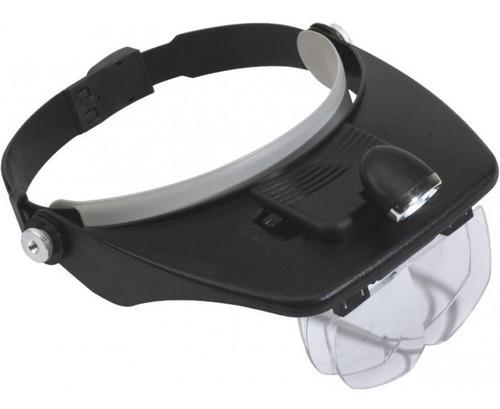 2 lupas manos libres con luz led lentes y pilas de regalo