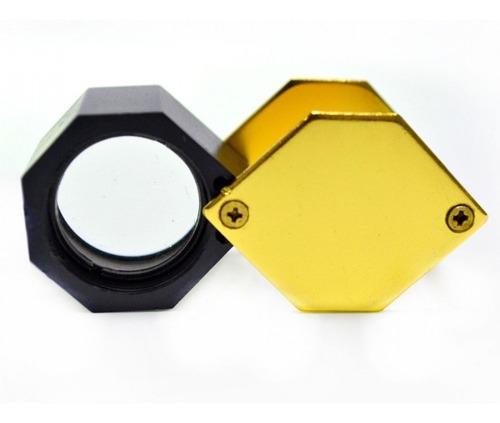 2 lupas metálicas lentes de alta qual. de dedo 30x 21mm 2512