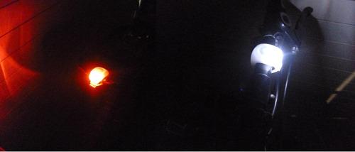 2 luz led lampara  silicón impermeable bicicleta ciclismo