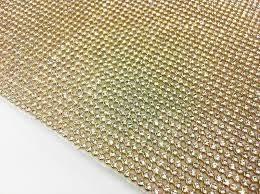 2 manta de strass 22x1,20 dourada alto brilho