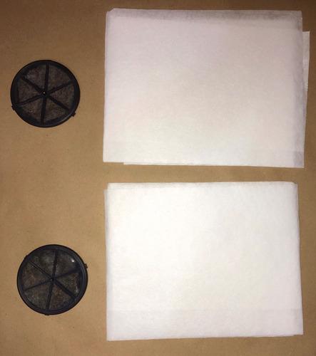 2 mantas exaustor suggar 78x58cm + 02filtros carvao ativado*