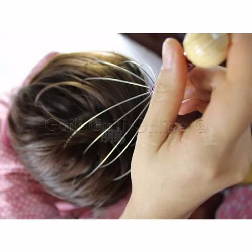 2 masajeador cabeza cuero cabelludo anti estres tipo araña