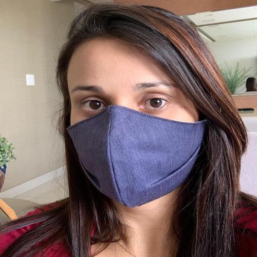 2 máscara tecido facial proteção rosto dupla camada lavável