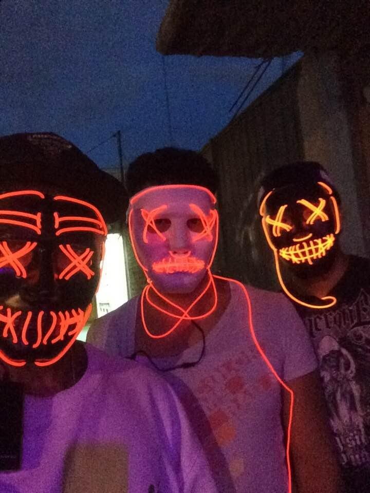 2 Mascara The Purge Mascara Luz Led La Purga Lus Led Let