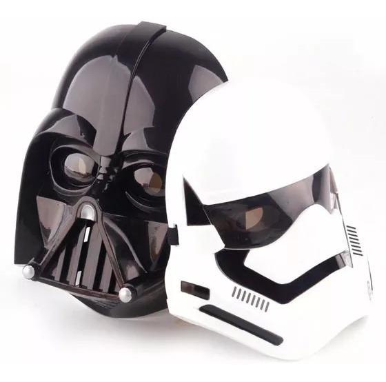 2 Mascaras Star Wars Stormtrooper Darth Vader Luz De Led R