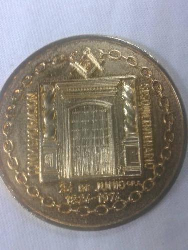 2 medalla sesquicintenario la gran logia de venezuela 1974