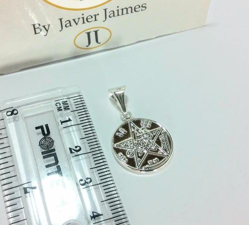 2 medallas pentagrama tetragramaton plata 925 envio gratis