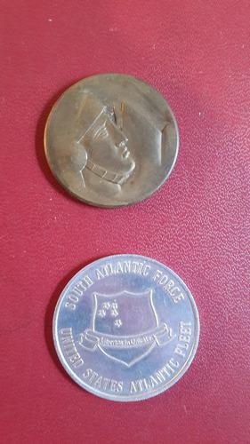 2 medallas unitas y escuela militar 1935, mt008