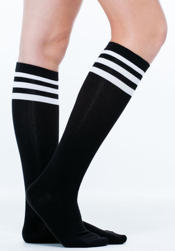2 medias largas hasta rodilla deportivas fitness pole futbol