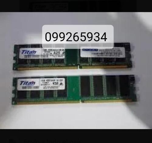 2 memoria ram 2gb ddr1 cada una